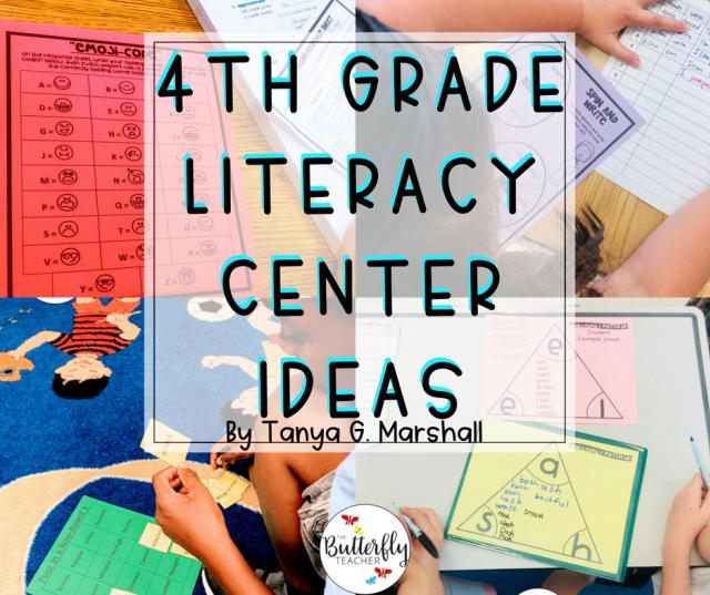 4th Grade Literacy Centers | The Butterfly Teacher