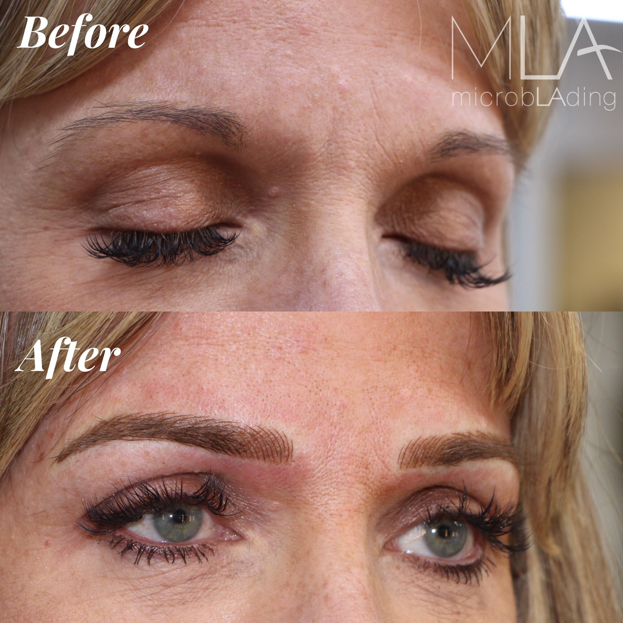 Microblading for blondes new brows by master artist julie