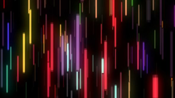 Colorful Neon Lamps Flight VJ Loop is seamless motion