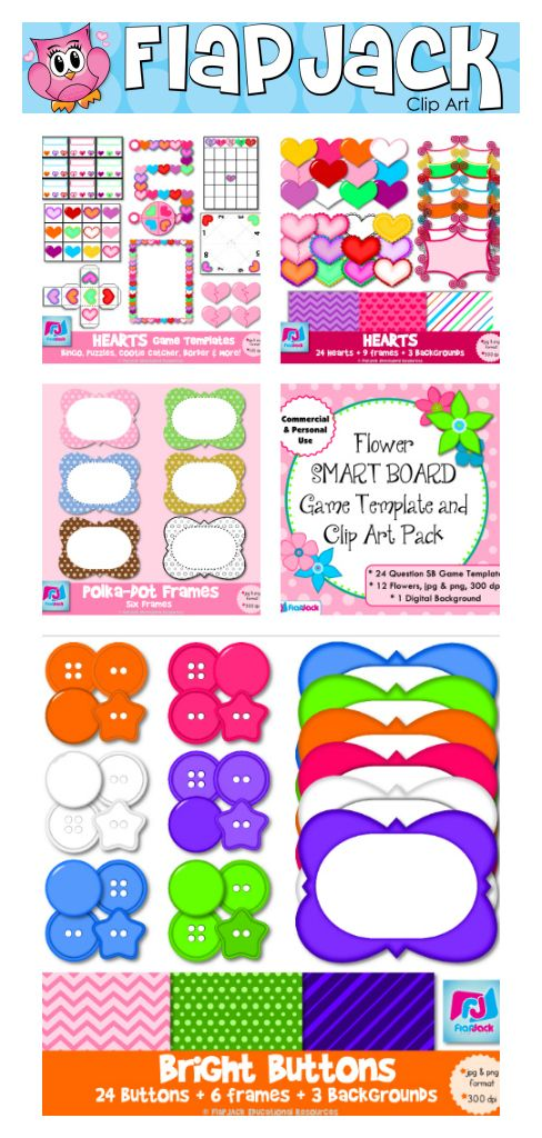 FlapJack Clip Art - Lots of cute designs and game templates to ...