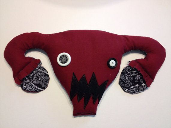 Angry Uterus microwaveable heating pad by ladybitsdesign on Etsy