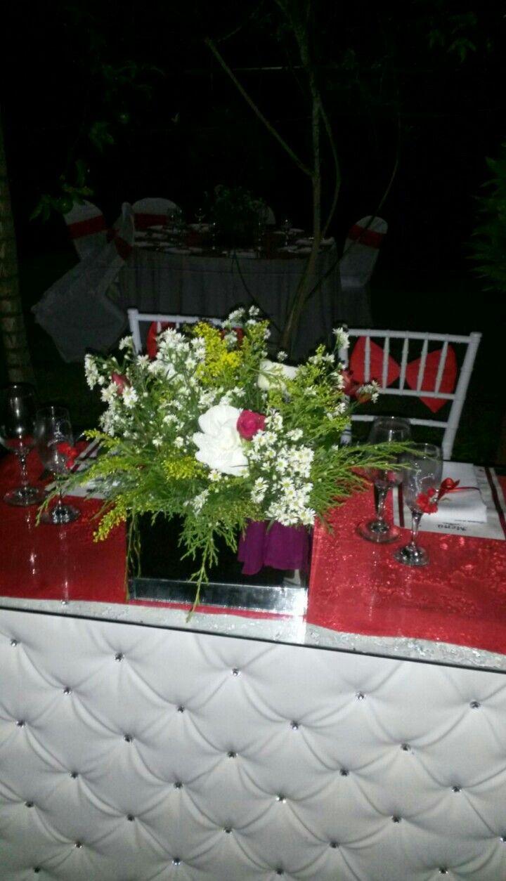 Mesa de novios boda Gerson y Yennifer