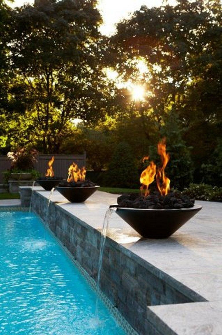 92 poolside decor #waterfeatures