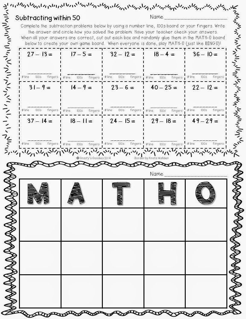 Grasty S 2nd Grade Goodies Free Math Worksheet Free Math Worksheets Free Math Math [ 1056 x 816 Pixel ]