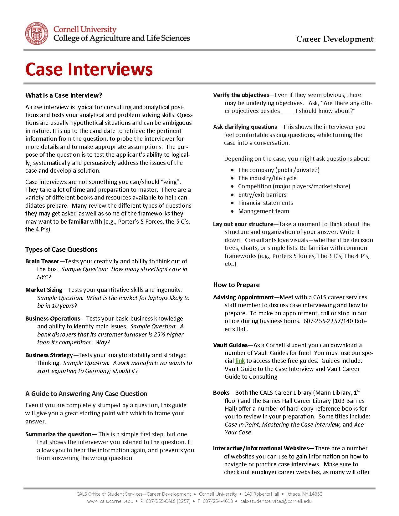 case interviewing