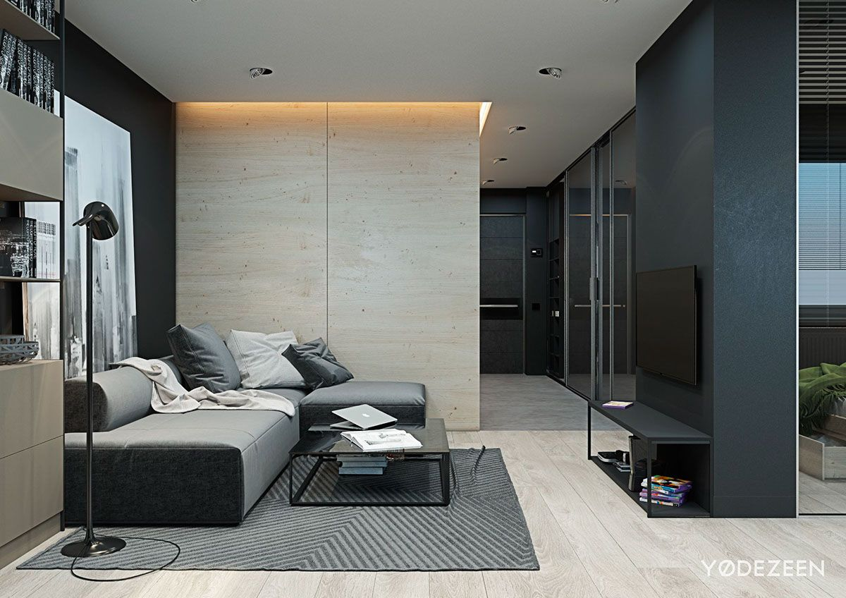 Small flat in Kiev on Behance Small studio apartment