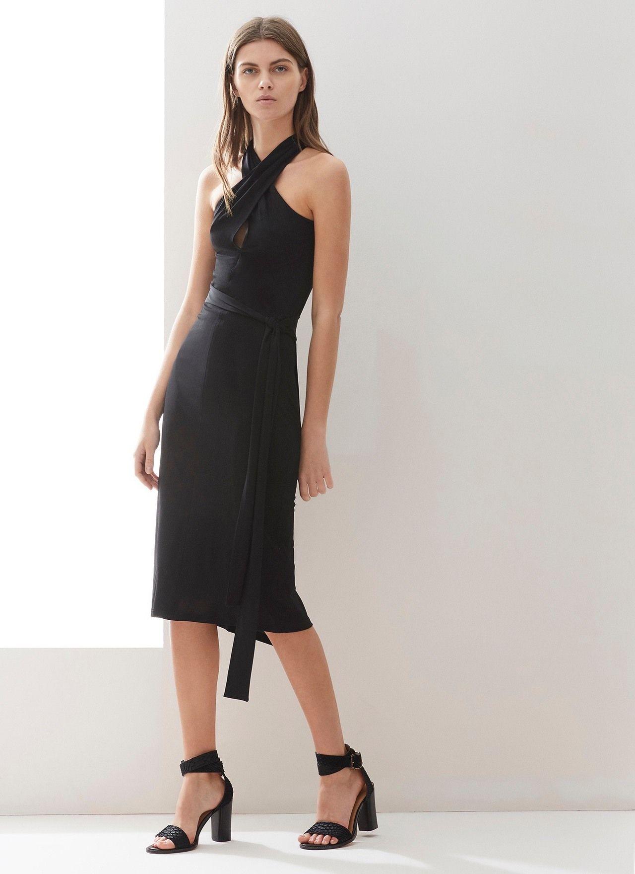 Vestido entallado de escote cruzado fiesta adolfo for Vestidos adolfo dominguez outlet online