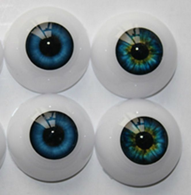 Half Round Acrylic Eyeballs Fit Reborn Dolls BJD OOAK Doll Eyes DIY Kits