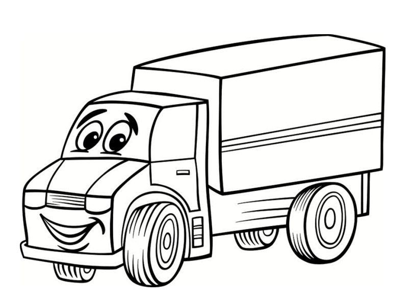 Coloriage camion colorier dessin imprimer d barras coloriage camion dessin a colorier - Coloriage camion de poubelle ...