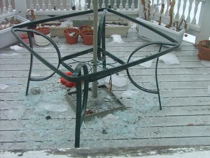Broken Glass Patio Tables | Glass Replacement Table Tops