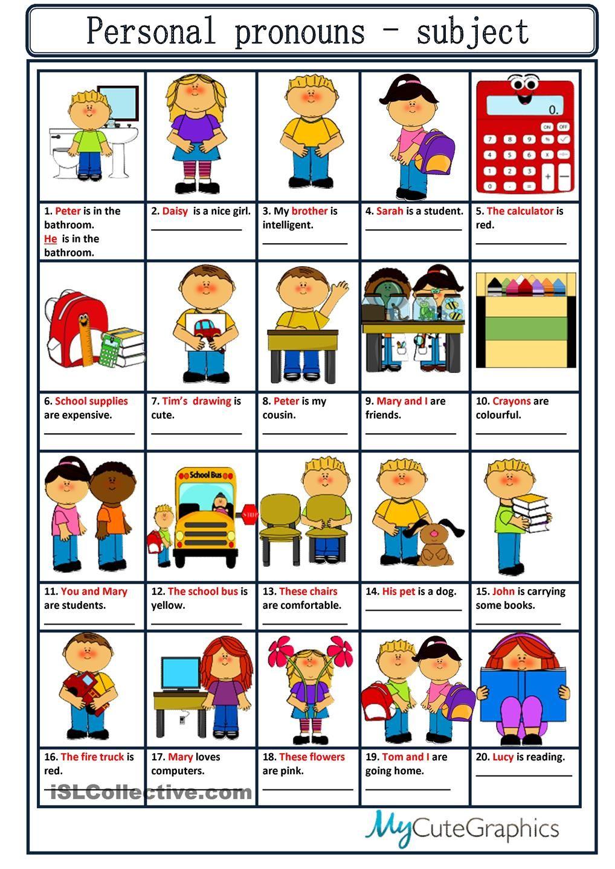 2nd grade pronoun homework
