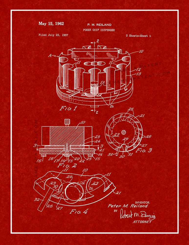Pin By Vintage Prints Cafe On Game Patent Prints Patent Prints Poker Chips Poster Prints