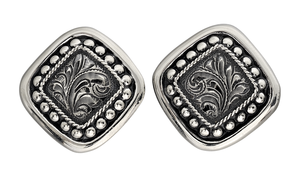 Vogt Contemporary Squared Conchos Earrings at Cowgirl Blondie's Western Boutique