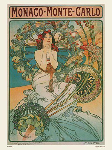 Art nouveau Poster Art Print by Alphonse Mucha Monaco