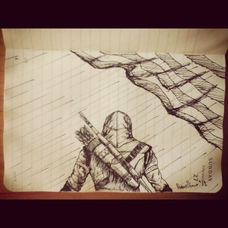 #2minutesketch - Connor Kenway Assassin's Creed 3