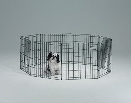 Pet Exercise Pen 24 X 24 Inches Dog Puppy Folding Crate Fence Kennel Cage Play Dog Playpen Pet Playpens Cat Gate