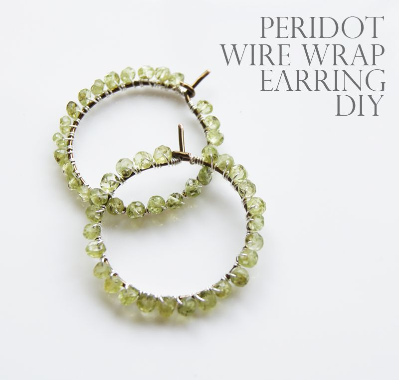 DIY Wire wrapped peridot earring - Sharyl, I know what we\'re doing ...