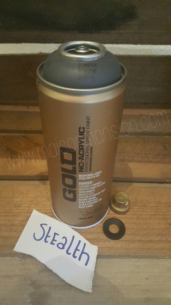 Montana Gold spuitbus Stealth 400 ml -  Een topmerk met een topproduct in een diverse kleuren. Snel droog, snel overschilderbaar, maximale pigmentatie, weinig lopers en met alle spraycaps te combineren.