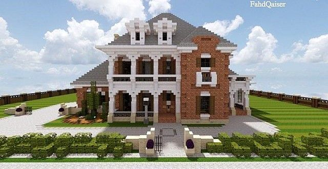 Delightful Minecraft Home Designs   Mansion Minecraft House Designs