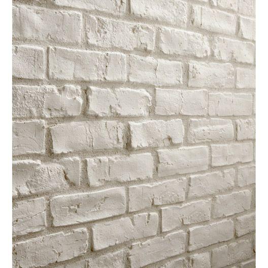 plaquette de parement easy block manhattan en pl tre blanc sans joint leroy merlin 33 m2. Black Bedroom Furniture Sets. Home Design Ideas