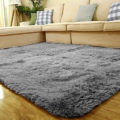 Superb Sytian® Large Size 4 Feet X 5 Feet Thick Decorative Modern Shaggy Area Rug  Super Soft Silky Bedroom Living Room Sitting Room Carpet Non Slip Absorbent  Bath ... Nice Design