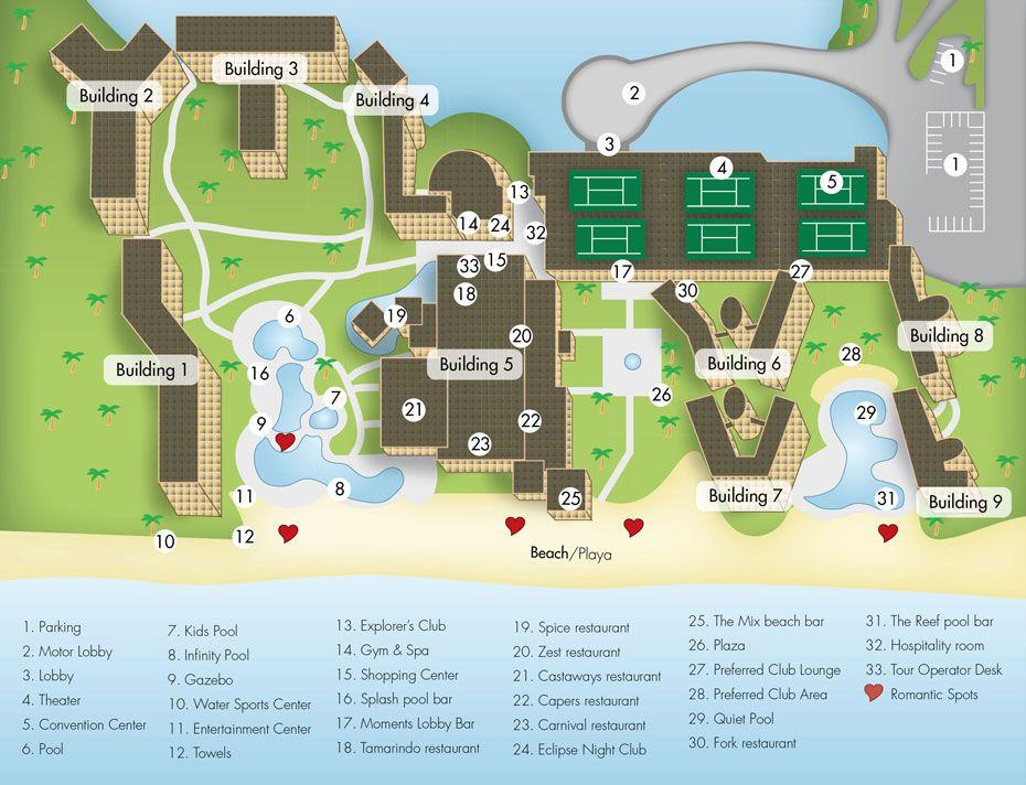 Now Jade Resort Map  Map Layout Now Jade Riviera Cancun  Ideas