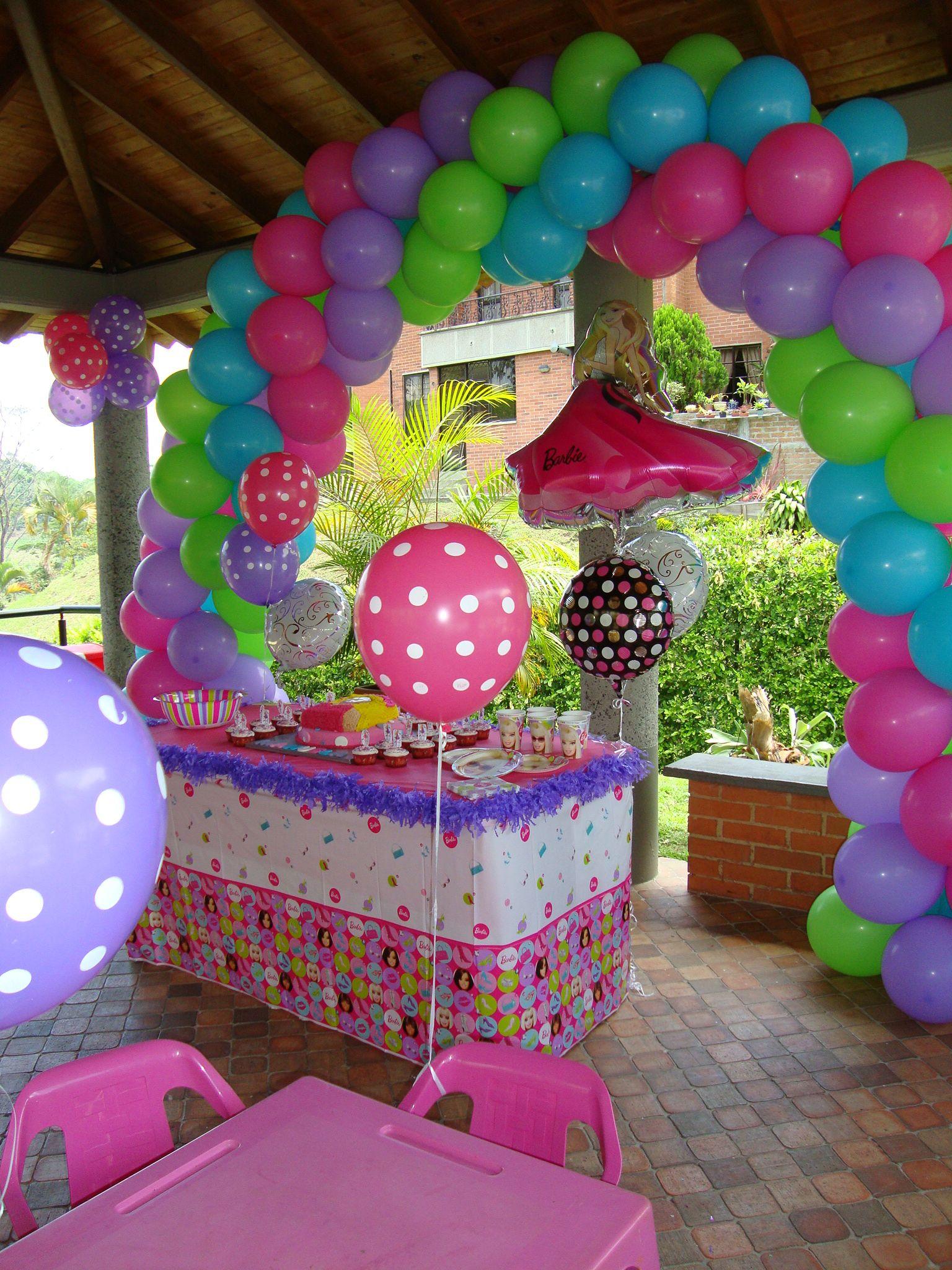 Barbie Theme Party Balloon Arches Pinterest Barbie party