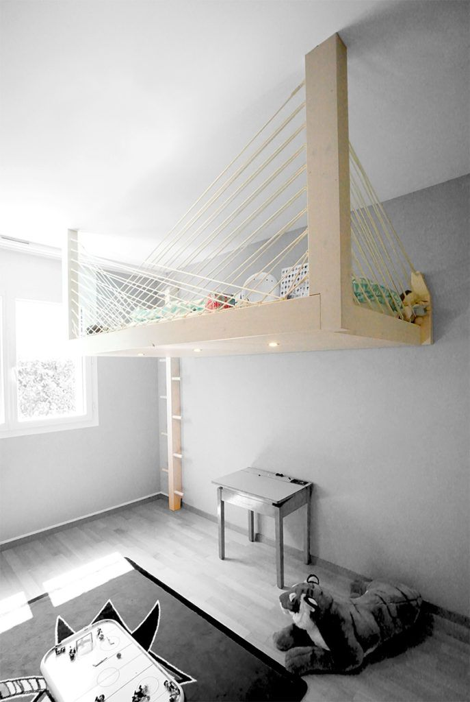 Photo of Mezzanine to measure – Hand-built to elevate your dreams – mezzanines.ch – UNE MEZZANINE SUSPENDUE ADAPTÉE À VOTRE ESPACE.