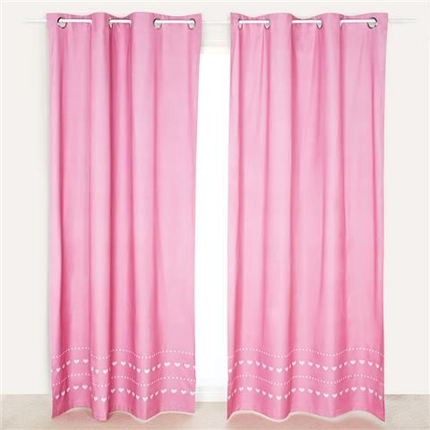 Roomates Eyelet Curtain Pair   Pink | Kmart