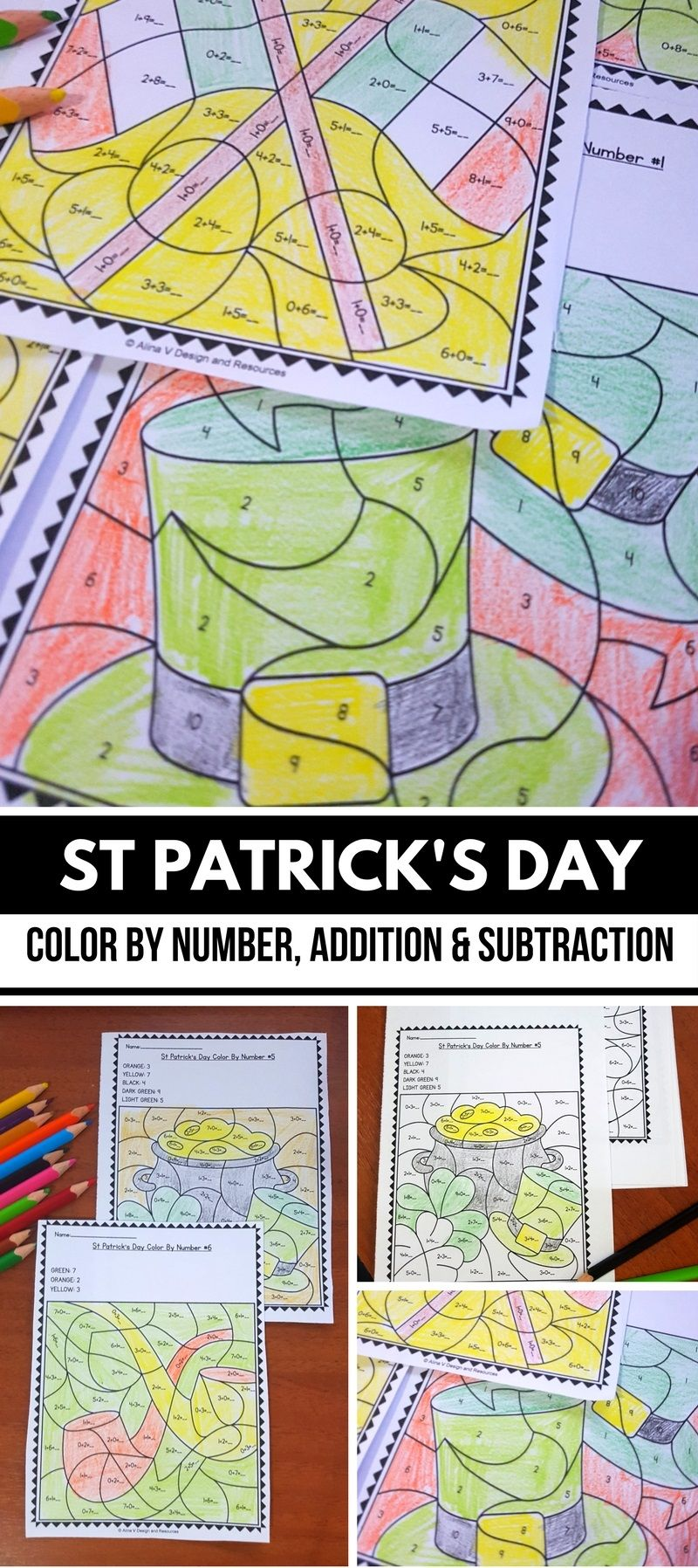 St Patricks Day Math Worksheets Activities for Kindergarten ...