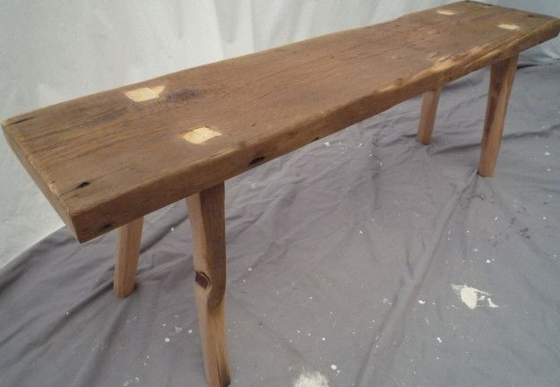 Trinity Bench Table Reclaimed Two Hundred Year Old Pine From Chruch S Bell Tower