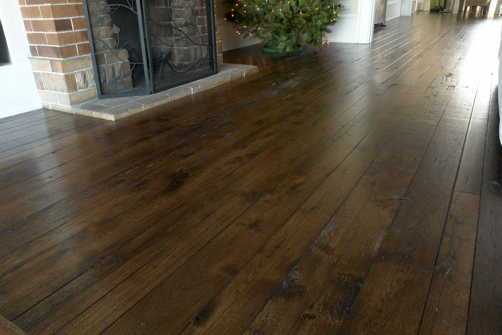 Dark hickory flooring very hard stiff dense and shock for Hardwood floors hickory
