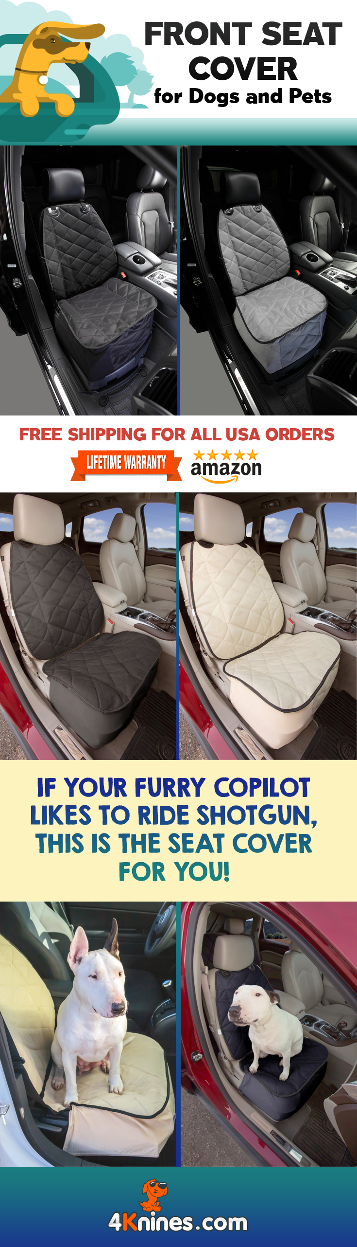 4Knines Split Seat Covers For Dogs And Pets Allows Use Of A 60 40 Check It Out Here 4knines Pages Rear Se
