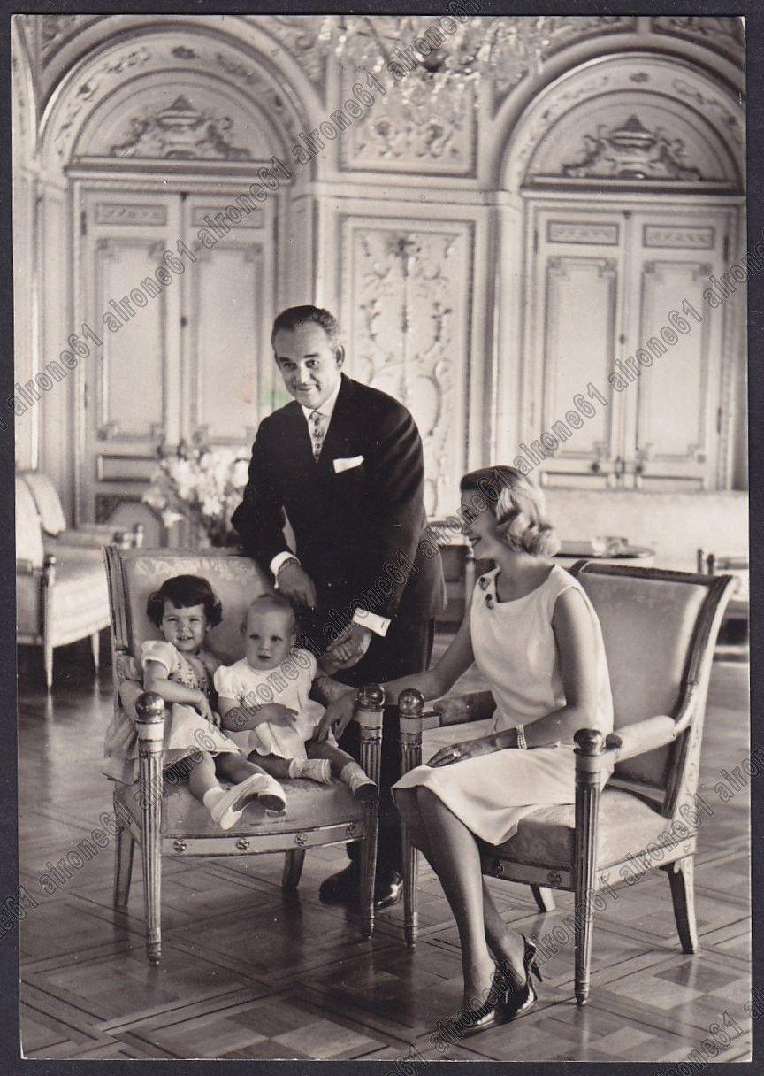 Princess Grace and Prince Rainier with their children Caroline and Albert - 1959