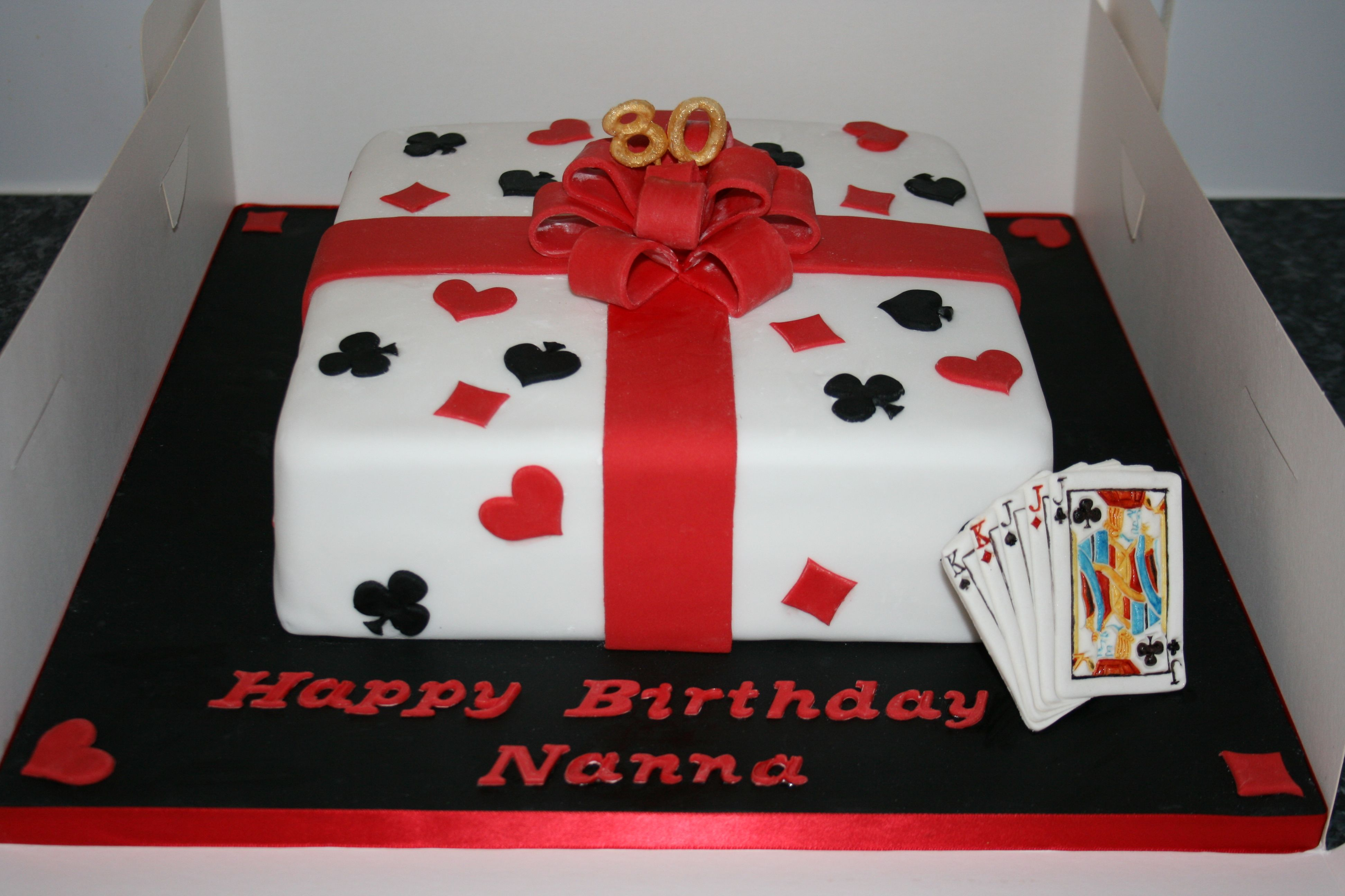 Playing card cakes grandpa play card birthday cake cakes andrea