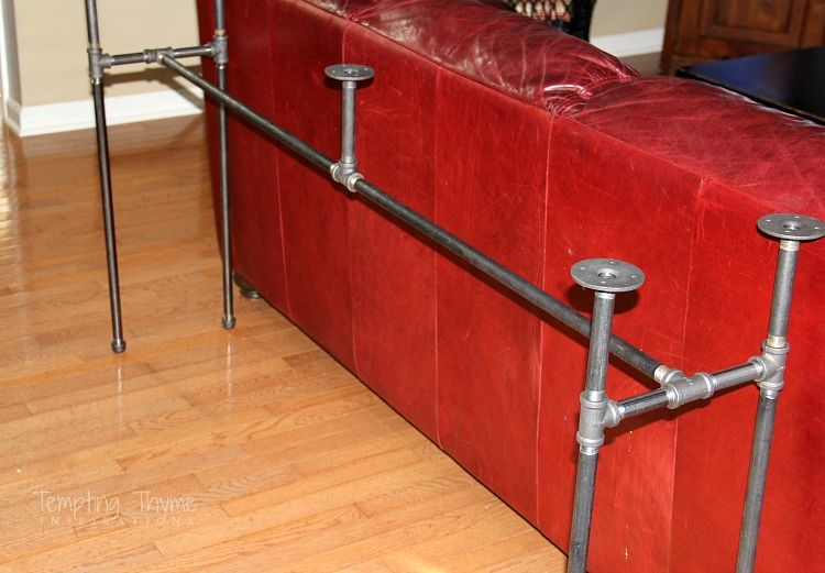 Diy Industrial Pipe Sofa Table Tables For Kate