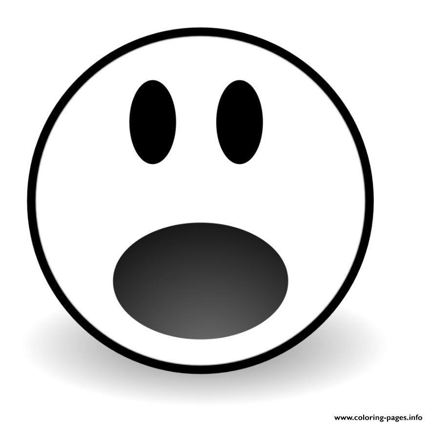 Print Emoji Waw Coloring Pages