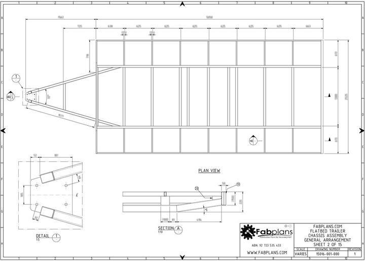 3500kg Flatbed Trailer Plans