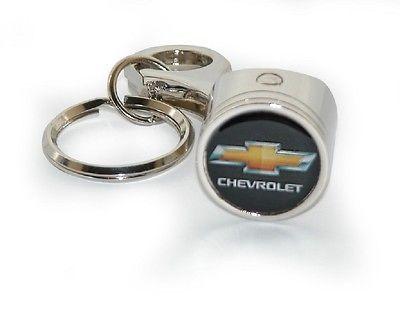 Chevrolet Gold Bowtie Piston Key Chain Key Chain Fob Ring