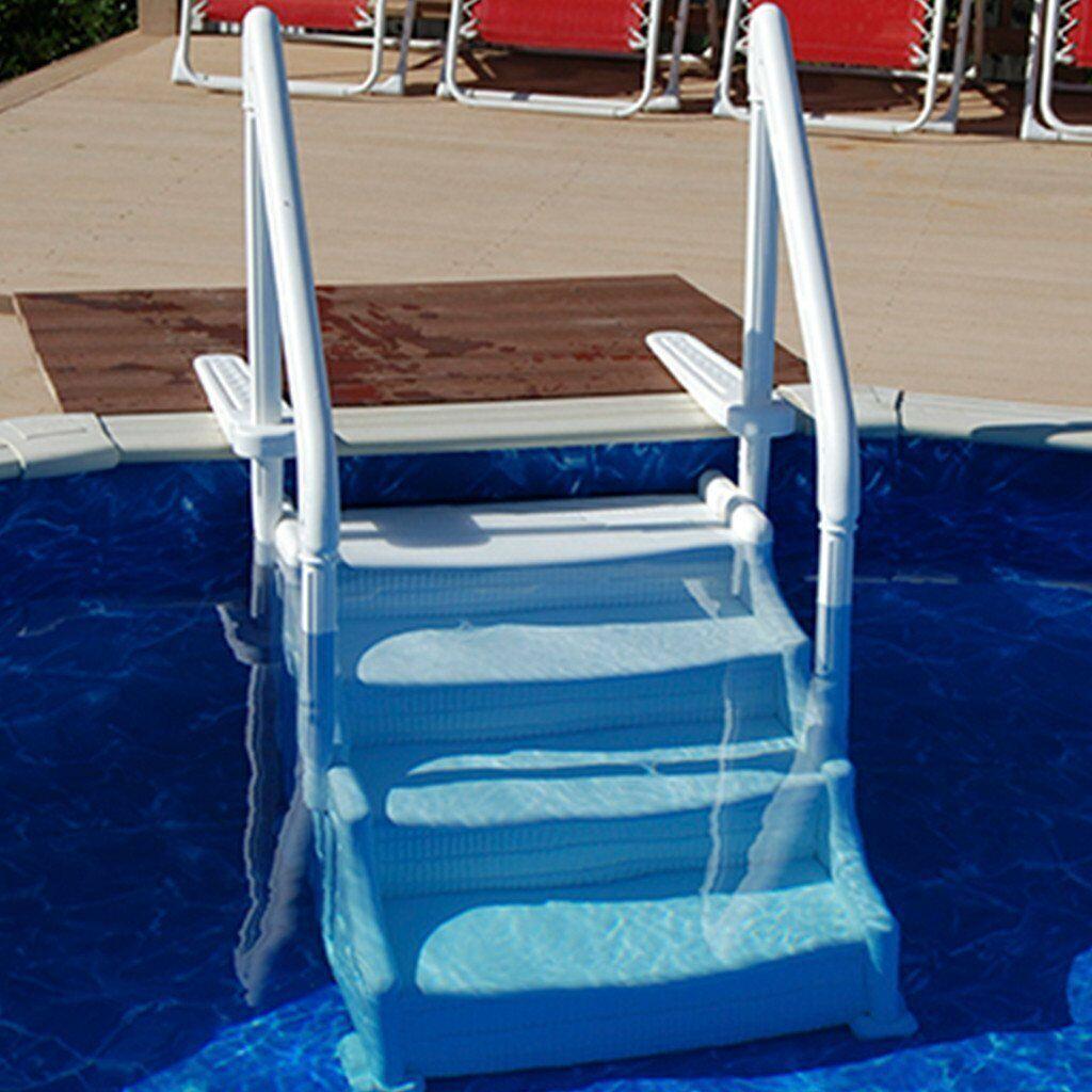 Mighty step above ground pool steps 15639 pool steps