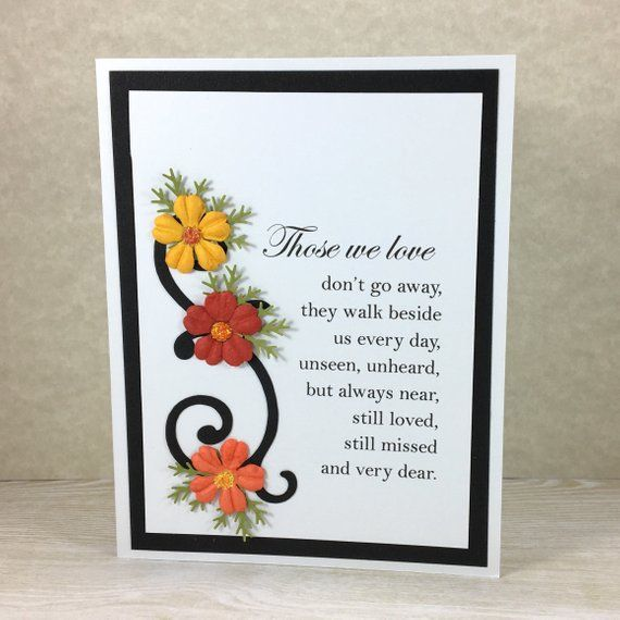 Sympathy Card, Sorry For Your Loss, Condolence, Bereavement, loss of