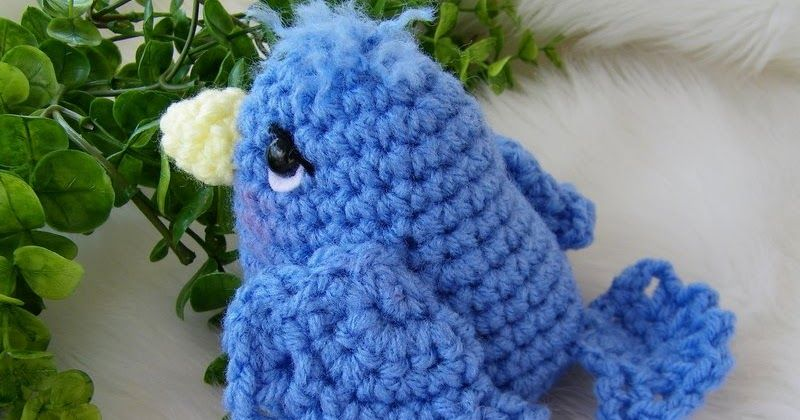 Something free for bird lovers and crocheters                           Simply Cute Blue Bird crochet pattern by Teri L. Crews Designs  Ma...