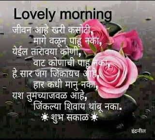 Good Morning Marathi Quotes Quotes Marathi Quotes Rose