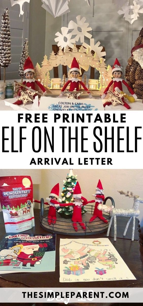 Elf on the Shelf Letter: Printable Arrival & Goodbye Letters