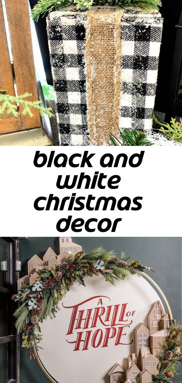 Black and white christmas decor inspiration #magnoliachristmasdecor