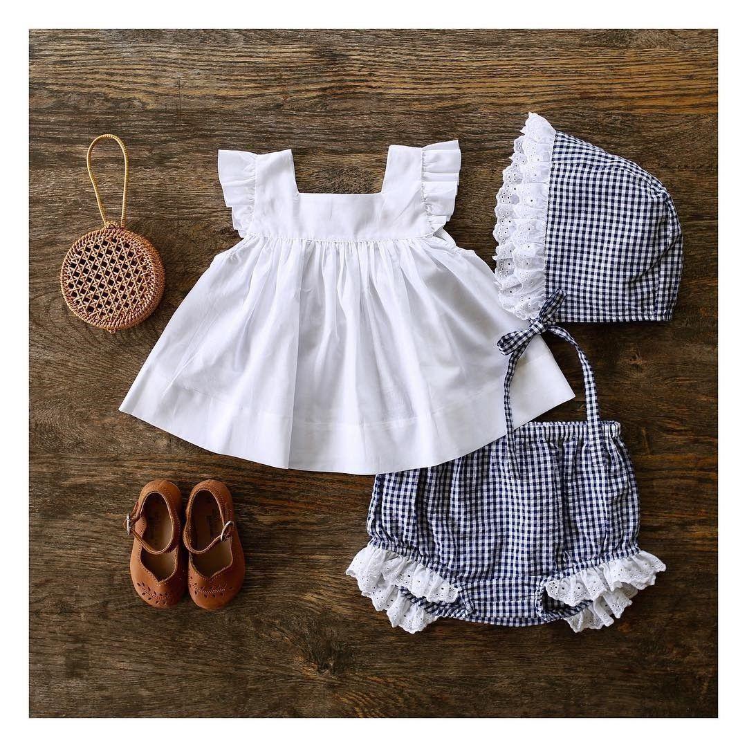 US Summer Newborn Baby Girl Clothes Princess Tops Dress+Shorts