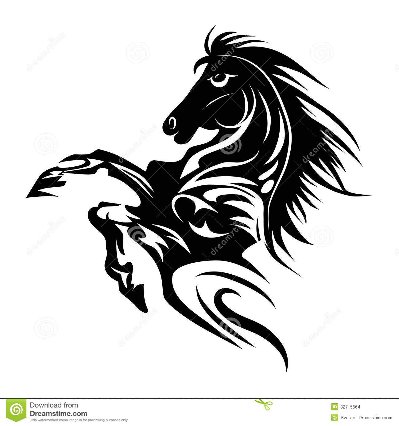 Horse tattoo symbol for design isolated on white emblem or logo horse tattoo symbol for design isolated on white emblem or logo buycottarizona