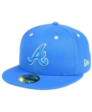 New Era Atlanta Braves Pantone Collection 59fifty Fitted Cap Blue 7 Hats For Men New Era Hats Atlanta Braves