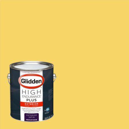 Glidden High Endurance Plus Exterior Paint and Primer, Sunspot, #45YY 71/567, Yellow