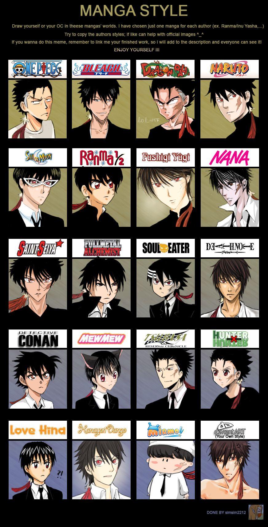 Manga Style Meme Boss Ver By Kayoru On Deviantart Anime Drawing Styles Anime Drawings Bleach Anime